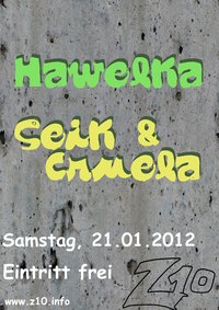 Konzert mit Hawelka (Rock/Blues) & Seik & Cruela (HipHop)