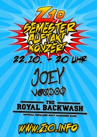 Semesterauftaktkonzert (Joey Voodoo/The Royal Backwash)